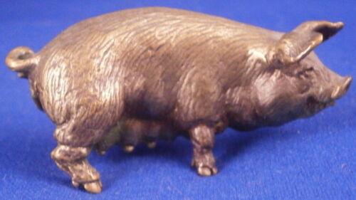 Antique 19thC Vienna Bronze Pig Figurine Figure Wiener Wien Figur Bergmann