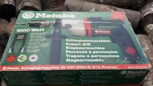 HAMMER DRILL METABO 220 VOLT BRAND NEW IN BOX