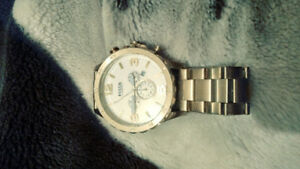 Mint fossil watch stenless steel with extray links