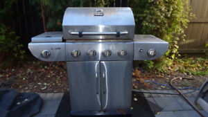 Natural gas stainless steel BBQ  with cover