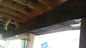 Large 12 x 12 beams (three total)