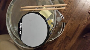 Practice Drum pad with two sticks