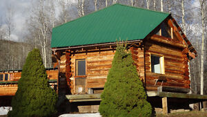 FOR RENT 2 BEDROOM LOG HOME IN PRIVATE SETTING