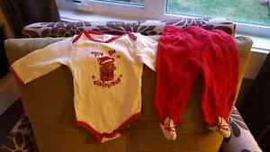 Christmas Onesie and Pants Set