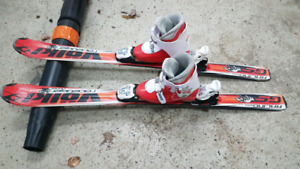 Junior ski and boot combo.  120cm