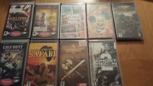 9 PSP Games (30$ for all, or 5$ each)