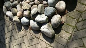 Smooth decorstive garden rocks