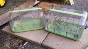 2 Small Hamster cages with wheels