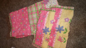 Girls queen size quilt set with pillow cases