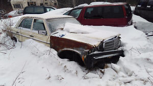 Parting out Mercedes W123 300D