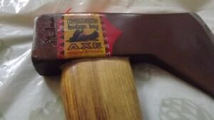 """NORLUND""RARE GENUINE HUDSON BAY MOHAWK AXE-HATCHET/MINT +SHEATH"