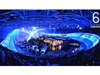 4 tickets SixDay cycling event @ Velodrome Saturday 29th