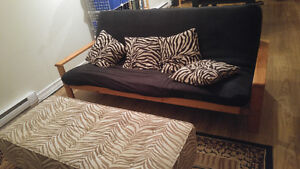 Multiple pieces of living room furniture