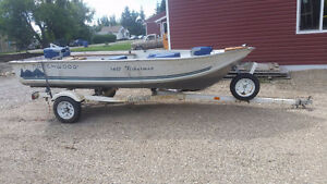 1997 14.5 foot northwoods with 25 hp yamaha fishing package