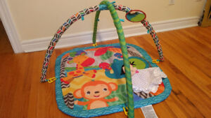 Baby Floor Mat with assorted Baby's First Toys