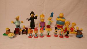 Lot 17 figurines Simpsons movie halloween burger king bobblehead