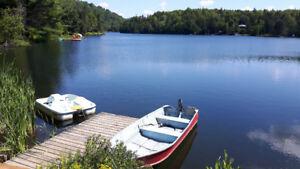 Chalet à louer Bord de l'eau 12p Spa Wifi Pêche près Tremblant !