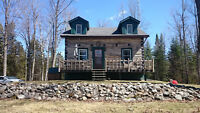 Beautiful Log House, Garage, 22.09 Acres