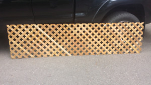 Several Brand New - Sheets of 2x8 Cedar Lattice