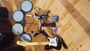 Ps3 Rock band kit..drums/guitar/microphone