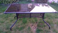 Brand new metal patio table for six people $70