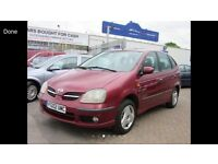 2002 02 NISSAN ALMERA TINO MPV CHEAP BARGAIN CAR DRIVES SUPERB WILL COME WITH NEW MOT TIDY CLEAN CAR