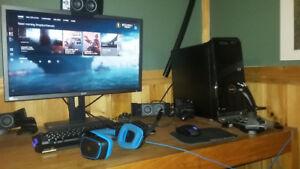 "Complete Gaming Setup - I7-6700K-GTX 1060 6GB - 28"" 4K Monitor"