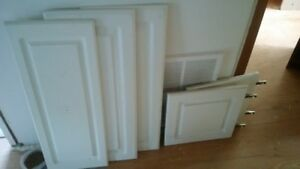 white upper cabinet doors long cabinet and short cabinet