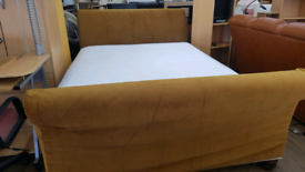 Kingsize sleigh bed frame with mattress excellent condition
