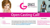Actors, Models and Background talent open call