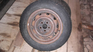 2 Winter Tires and Rims from Dodge Neon