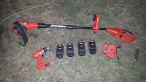 Drill and Grass Trimmer 18V