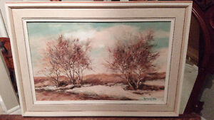 OIL ON BOARD ORIGINAL LANDSCAPE PAINTING