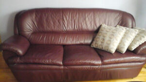 Sofa en cuir veritable