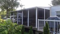 8x20 hard roof screen room  REDUCED PRICE
