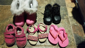 Girls size 4- assorted boots, shoes and sandals