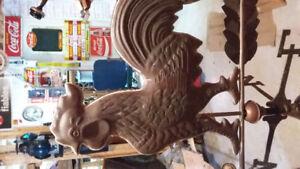 Antique copper Weather vane (girouette)