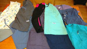Scrub set and shirts. Small and few extra small. Great condition