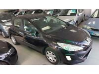 2008 PEUGEOT 308 S Black Manual Petrol