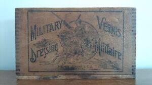 Boîte Authentique Vernis Militaire - Henri Jonas & Co. Montréal