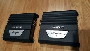 ALPINE 240F CAR AMPLIFIERS (SET OF 2) $50 each Amp