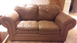 Leather sofa and love seat for sale