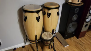 Meinl Headliner Congas with Stand - Natural