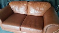 Leather love seat -100 % top grain leather