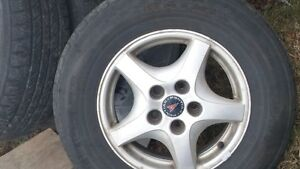 4 X15 Inch Summer Tires on wheels. Good Condition!