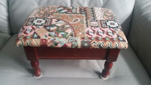Small Footstool with Storage