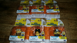 "New Despicable me Minions Poseable 2"" Action Figures lot of 6"