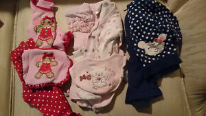 Lot of Girls 0-3 Month Clothes
