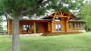 Lake of the Woods Executive Log Cabin For Rent
