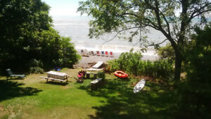 Secluded Lakefront Cottage,  West of Long Point, $1100.00 weekly